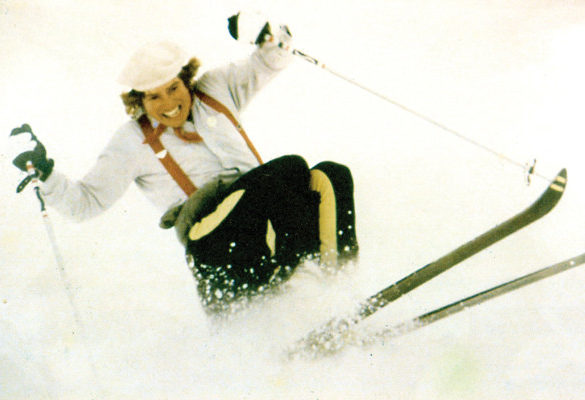 Sparky Potter enjoying some spring skiing (1960s)